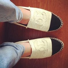 In love with my Chanel Spadrilles