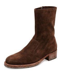 MAISON MARGIELA SUEDE CAMPUS BOOT, BROWN. #maisonmargiela #shoes #boots