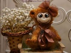 Мишки Тедди ручной работы. Ярмарка Мастеров - ручная работа. Купить Обезьянка по имени Лулу. Handmade. Рыжий, обезьяны