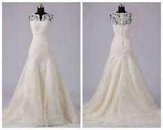 Elegante Brautkleider Hochzeitskleider weiß/creme Spitze 32 34 36 38 40 42 44 46