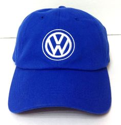 BEECHMONT VOLKSWAGEN HAT Blue/White Relaxed-Fit Cotton Adjustable Men/Women VW #VWDriverGear #BaseballCap