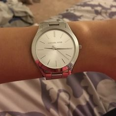 d577189d0605 Slim watch MK3178. With extra links and box. Stainless steel. Has a small