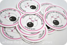 Bowling Return Address Labels by TheGreenGrassGrows on Etsy, $5.50