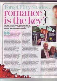 Talking to Best magazine about why romance is the key. The New Wave, Fifty Shades, My Books, Erotic, Fiction, Bring It On, Jokes, Romance, Magazine