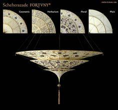 Fortuny Lamp 3 Tier Scheherazade Silk Light Floral Design and options BUY thru www.luminosodesign.com