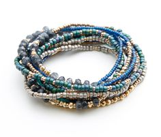 Gemstones and trade beads.  Three separate strands, one amazing look!