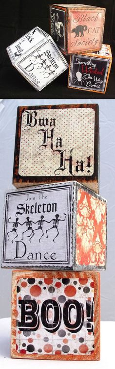 If you love the vintage Halloween look, try adding these DIY Mod Podge blocks to your decor. They are very easy and can be used to display candles.
