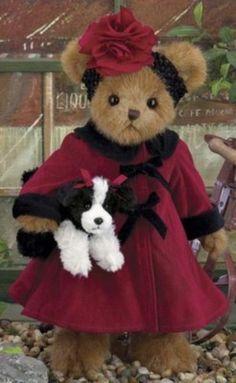 """14"""" DEVON & DARLING**Bearington Teddy Bear**NEW 2013**NWT*Fall*Dog*Puppy*"""