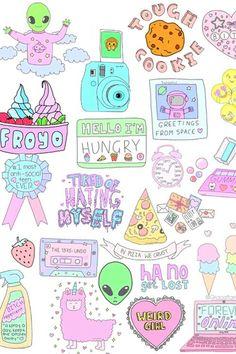Pin by pastel alien on anime art Tumblr Backgrounds, Cute Backgrounds, Cute Wallpapers, Emoji Wallpaper, Tumblr Wallpaper, Aesthetic Iphone Wallpaper, Kawaii Drawings, Cute Drawings, Printable Stickers