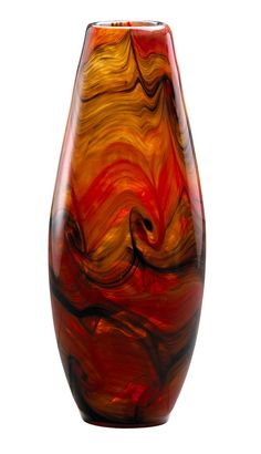 Large Italian Vase in Caramel Swirl