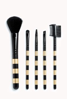 Striped Cosmetic Brush Set | FOREVER21 - 1000111488