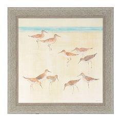 Sand Pipers Framed Art Print | Kirklands