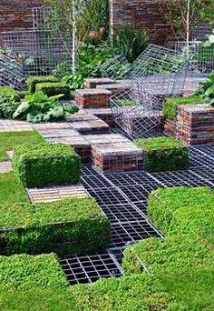 Garden gabions - cute gabion cubes. More