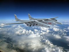 Stratolaunch would provide airborne launches for rockets going into lowe-Earth orbit Rocket Motor, Jet Engine, Space Travel, World's Biggest, Space Exploration, Spacecraft, The World's Greatest, Worlds Largest, Airplane View