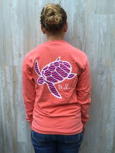 Bright Salmon Pocketed Wave Print - Makai Clothing Co.