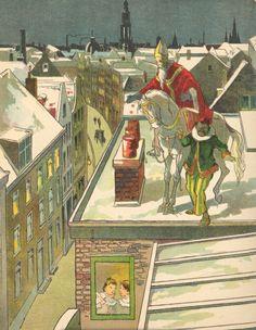 Sinterklaas op het dak