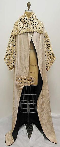 Шёлковое винтажное пальто, Париж 1911 vintage_lace  Paul Poiret (French, Paris 1879–1944 )