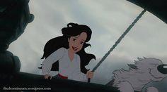 Ariel as prince Eric