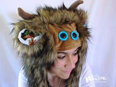 Ahoy, matey! Monsterface Aviator hat Pirate Monster hat by MostlyMonstersCV