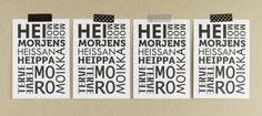 Muumuru postcard: Hei Morjens Postcards, Coding, Programming, Greeting Card
