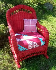 pretty wicker rocker