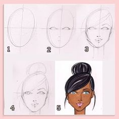 "I've received lots of emails asking me to explain drawing faces. Similar to ""poses"" the face is easiest to tackle from the front, head on. (..."
