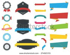 This image is a vector file representing Labels, Banners and Stickers collection set./Labels, Banners, Ribbons and Stickers Vectors/Labels, Banners, Ribbons and Stickers Vectors