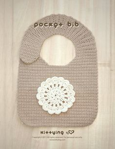 Crochet Pattern  Baby Pocket Bib Preemie Pocket Bib by kittying.com from mulu.us