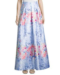 Floral-Print Ball Skirt  by Kay Unger New York at Neiman Marcus.
