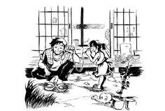 〈夏の糸電話〉 宿題なんだって 筆特訓弐拾弐