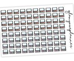 Eyeshadow Stickers - 80 Planner Stickers #plannerstickers #stickersforplanners #diyplanners