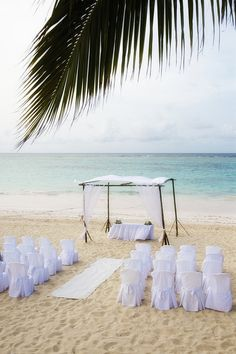 Beach wedding at Ocean Blue & Sand resort in Punta Cana, Dominican Republic.