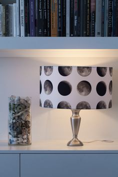 Lunar Moon Lampshade - Space 1a - outer space - moon phase lighting - quirky…