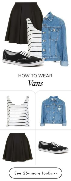"""Untitled #838"" by littleprincess555 on Polyvore featuring Topshop, River Island and Vans"