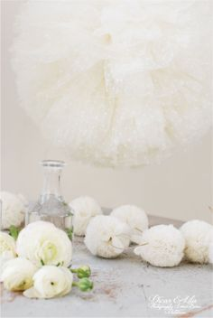 Oscar and Lila, tulle pom poms and garland