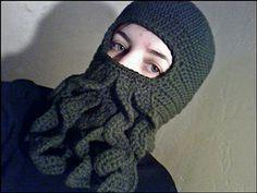 Cthulu Beard Hat: Free #crochet and #knit balaclava patterns to keep you warm this winter!