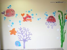 Underwater wall art Τοιχογραφίες παιδικών δωματίων www.wallinart.gr