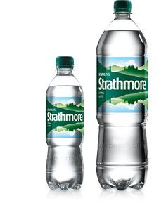 Strathmore :  Scottish Sparkling Bottled Water .. Plastic Bottle