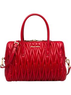 MIU MIU MIU MIU AVENUE TOTE BAG - RED.  miumiu  bags  shoulder bags  hand  bags  leather  tote  lining 053d1b2ecb