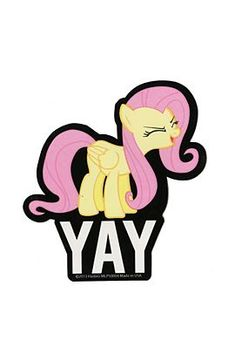 My Little Pony Fluttershy Yay Sticker - 301115