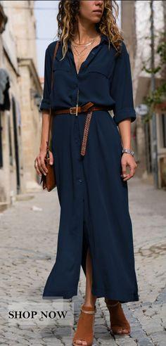 da793c064c330 JustFashionNow Deep blue Women Summer Dress Shift Date Dress Short Sleeve  Linen Paneled Solid Dress