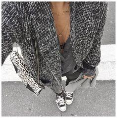 Hier  • Necklace #1954 (from @simonemode) • Necklace #maisonirem (from @maisonirem) • Bag #saintlaurent (from @vestiaireco) • Jacket #margauxlonnberg (from @shopnextdoor) • Knit #samsoe (from @samsoesamsoe) • Leather Pant #vanessabruno (old) • Sneakers #converse (old) ...