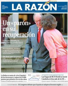 Los Titulares y Portadas de Noticias Destacadas Españolas del 19 de Septiembre de 2013 del Diario La Razón ¿Que le pareció esta Portada de este Diario Español?