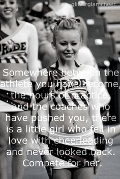 I love this! My coach left our team last night and I can honestly say that it was the saddest cheer session ever! I will always remember her! :)