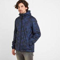 Craven Mens Waterproof Packaway Jacket - Dark Indigo/Digi Camo - S Man Jacket, Waterproof Fabric, Indigo, Camo, Hoodies, Jackets, Men, Products, Mens Duster Coat