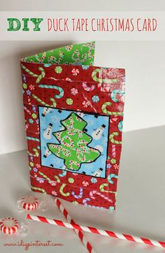 I Dig Pinterest: DIY Duck Tape Christmas Card with Built-In Gift Card Pocket!