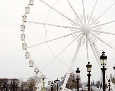 Paris photographie, grande roue, estampes de Paris, décor d'hiver blanc, noir et blanc, NR sur Etsy, $31.71 CAD