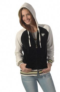 Pittsburgh Penguins Women's Velour Cheer Hoodie from Touch by Alyssa Milano