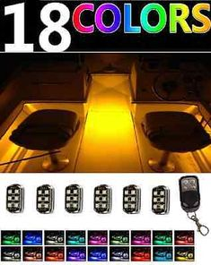 49543 boat-parts Wireless Control LED Boat Deck Marine Lights Kit Waterproof Pods For Pontoons  BUY IT NOW ONLY  $59.99 Wireless Control LED Boat Deck Marine Lights Kit Waterproof Pods For Pontoons...