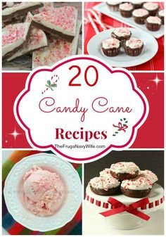 20 Candy Cane Recipes Round Up - my favorites from this time of year!